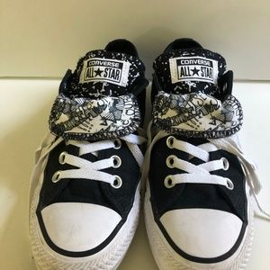 Converse All Star Double Tongue Black and White